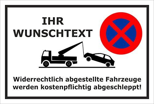 Melis Folienwerkstatt sticker schild - Parken verboden gewenste tekst - S00020A-A