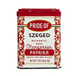 Pride Of Szeged Hungarian Sweet Paprika, Authentic Hungarian Sourced, Single Ingredient Premium Spice, 1.7 oz. Tin, 1-Count