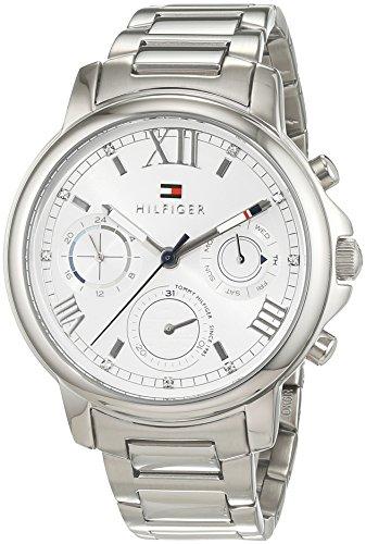 Tommy Hilfiger Damen Analog Quarz Uhr mit Edelstahl Armband 1781741