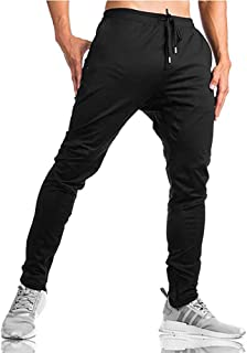 MINHAO Men's Sweatpants Slim Fit Joggers Zipper Ankle Running Trousers with Pockets