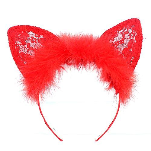Chat Noir Oreilles Alice Cheveux Bande Serre-Tête Déguisement Halloween