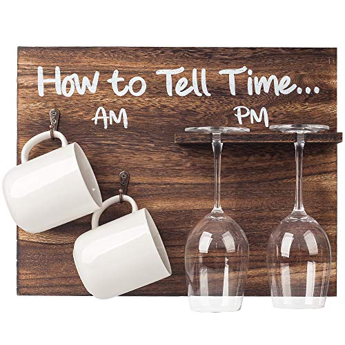 BARGIFTS How to tell time, the coffee cup wall rack and wine glass holder