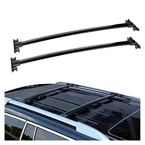 XIAOZHIWEN Rack Top Rail Carry Carrera portaequipajes Fit para Toyota Highlander 2008-2013