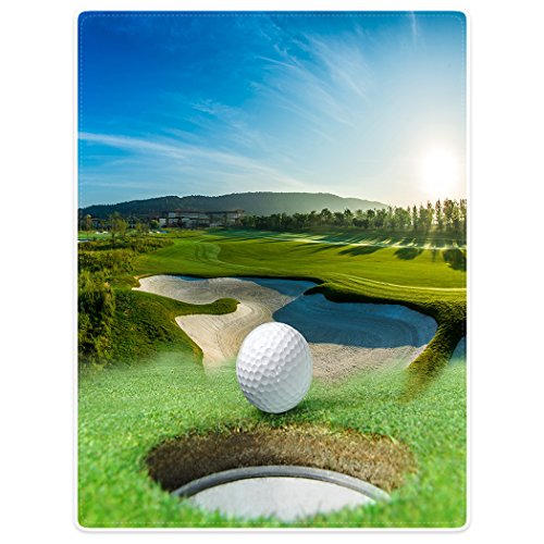 Blankets Sofa Bed Throw Lightweight Cozy Plush Golf Course Beautiful Sky Hole Bunker 60'x80'