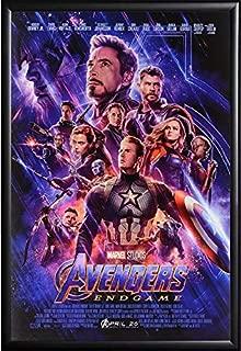 Avengers Endgame Movie Poster, US Regular Version, Framed (Black)