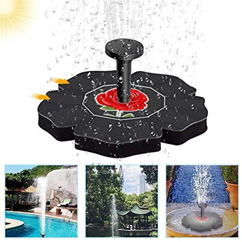 YDBET Solarbetriebene Teichpumpe, 1.4W 180L / H Solarwasserbrunnen 4 Düsen kein Strombedarf Solarwasserpumpe Schwimm Brunnen