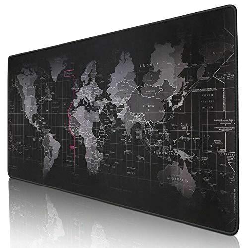 Kriture マウスパッド 80*30*0.3cm ゲーミングマウスパッド 世界地図