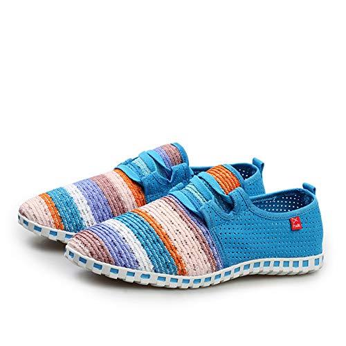 Leobtain Männer Frauen Atmungsaktives Mesh Schuhe Regenbogen Farbe Aushöhlen Schuhe Schnell Trocknend Atmungsaktiv Leichte Schuhe