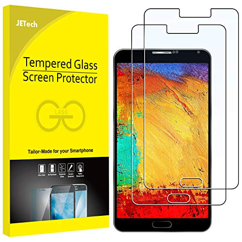 JETech Screen Protector for Samsung Galaxy Note 3, Tempered Glass Film, 2-Pack