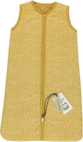 Briljant Minimal Dots - Saco de dormir de invierno para bebé (90 cm), color amarillo ocre
