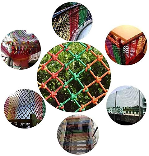 MBTY Safety Net Color Balcony Protective Net Kids Climbing Cargo Net Waterproof Heavy Duty Railings Rope Net Child Rope Ladder Hammock Fall Protection (Size : 53(15x9ft))