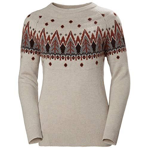 Helly Hansen W Wool Knit Sweater – Maglione da Donna, Donna, Maglia, 62928, Bianco (011 Offwhite), XL