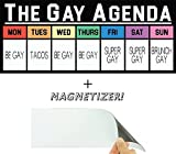 The Gay Agenda Funny Bumper Sticker & Free Magnetizer. The Truth Finally...