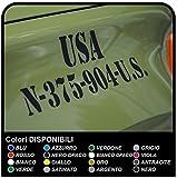 Pegatinas militares Escrito Ejército de los U.S.A. para offroad Díganos la abreviatura preferida (y tamaño de 5 a 30cm) pegatinas militares del ejército de Estados Unidos (NEGRO MATE)