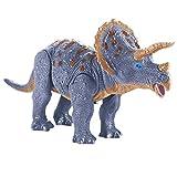 Wild predators Electrónico Juguete, Juegos niños, Dinosaurio Sonido, Color Azul, Triceratops, marrón (Camina como los auténticos, Tiene Efecto)