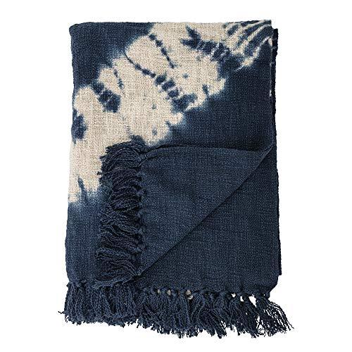 Bloomingville Couvre-lit en coton Bleu