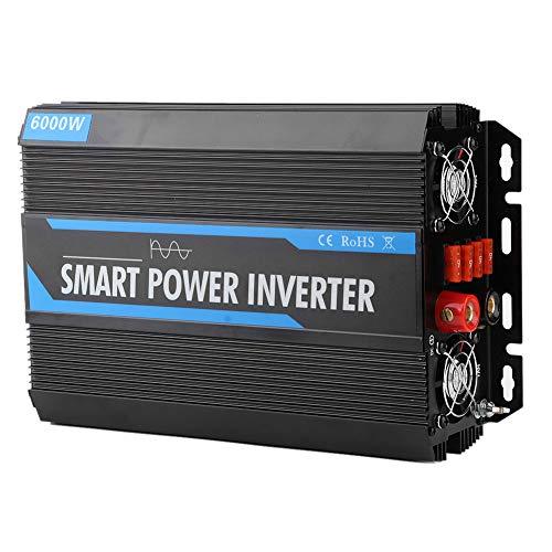 Ymiko Inversor de energía de 2000 W, 12 V a 220 V Transformador inversor de Voltaje de Onda sinusoidal Pura Accesorio automático para Acampar Fuente de alimentación al Aire Libre Listado ETL