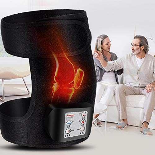 ZFAZF Vibration Knee Pad, Heating Knee Massager Infrared Magnetic Therapy for Muscles Joint Pain Relief, Rechargeable