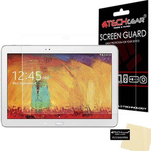 TECHGEAR Bildschirmschutz für Galaxy Note 10.1 2014 SM-P600 P601 P605 - Ultra Klare Schutzfolie für Samsung Galaxy Note 10.1 2014 - mit Reinigungstuch + Applikationskarte
