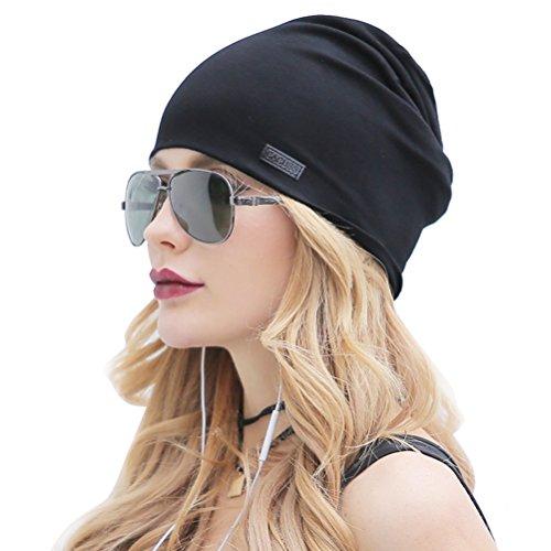 CACUSS Klassische Slouch Beanie Mütze, leicht und weich, Longbeanie,Jersey Baumwolle elastisch Unisex Herren Damen Mütze