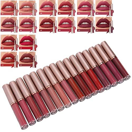 Matte lipgloss, 16st hydraterende vloeibare lippenstift voor vrouwen voor lipmake-up