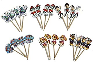 Paw Patrol Party Cupcake Cake Decorations Toppers Birthday Party Supplies Set of 48