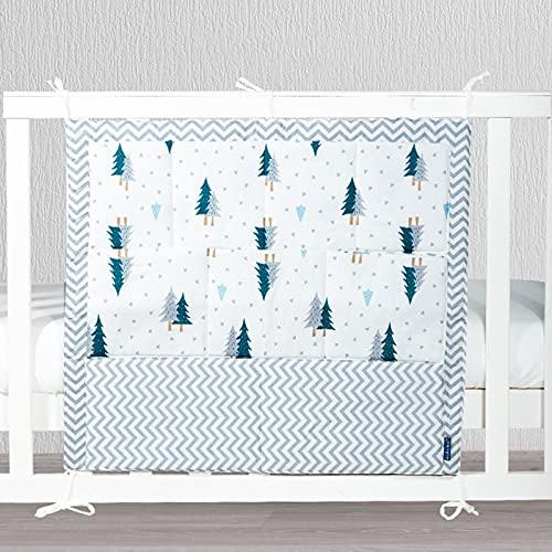 LJJOO Almacenamiento de pañales de noche, bolsa de almacenamiento de bebé, bolsa de almacenamiento de noche, bolsa de pañales, bastidor de almacenamiento multifuncional, adecuado para carriles de cama