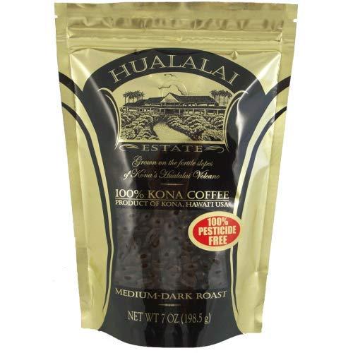 Hualalai Estate - 100% Pure PREMIUM Kona Coffee - Medium-Dark Roast 7oz (WHOLE BEAN)