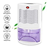 LATITOP Upgrade 320 Sq.Ft Home Dehumidifier with 68oz (2000ml) Water Tank, Portable Compact Small Electric Mini Dehumidifier, Ultra Quiet Dehumidification for Basement, Bedroom, Bathroom, Closet, RV