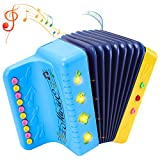 Toddler Baby Accordion Musical Instrument Toy, Multifunctional Electronic 10 Keys, Light Up, Keyboard Educational Learning Toy Christmas Birthday Gift for Kid Age 12 months 1 2 3 4 5 Year Old Girl Boy