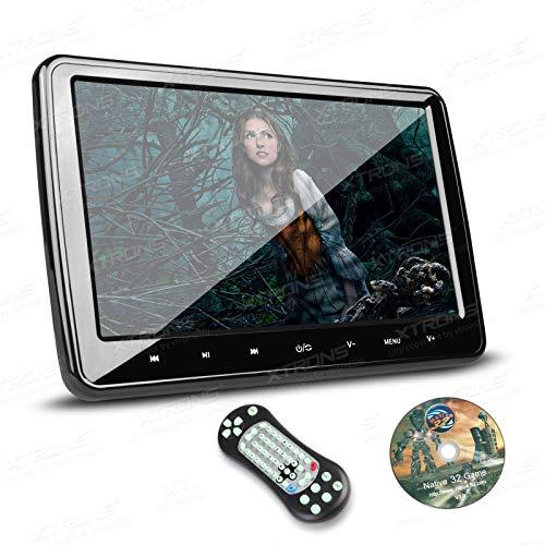 """XTRONS® 10,1 """" Auto DVD CD Player Kopfstütze Headrest HD Monitor Bildschirm HDMI Anschluss Ultra dünn abnehmbar schwarz"""