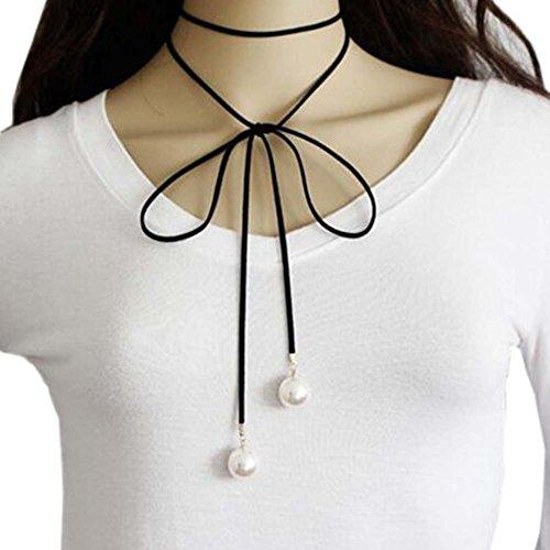 Cordes de cou de mode Collier en velours noir