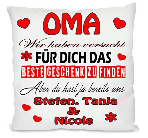 Fotokissen   Personalisiertes Kissen für Oma und Opa   bedrucktes Kissen   Kissen   Motivkissen   Geschenke zu Weihnachten Geburtsttag  Weihnachten, Geburtstag   32 x 32 cm (Oma, mit Kissenfüllung)