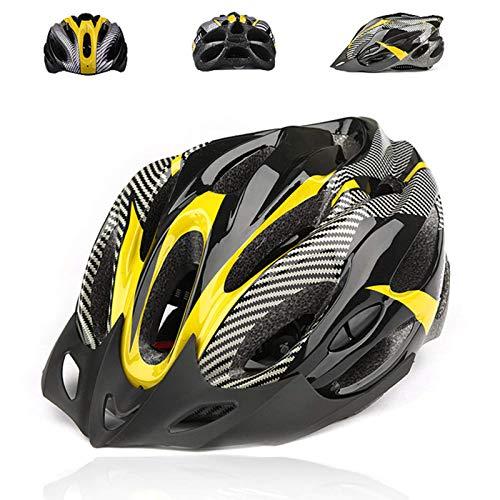 Casco de Bicicleta de Montaña, Casco de Bicicleta para Adultos Casco Ajustable...