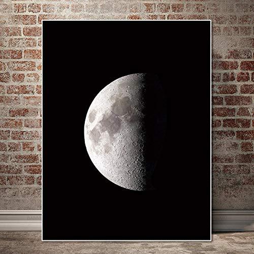 kdasfh Poster Murale pittura su Tela pittura immagini pittura astratta stampe d'art Luna su Tela decorazione Della casa per soggiorno NO Cornice 50x70 cmkdasfh