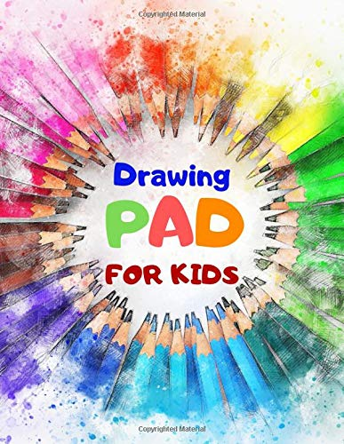 """Price comparison product image Drawing Pad For Kids: Blank Paper Sketch Book for Drawing Practice,  110 Pages,  8.5"""" x 11"""" Large Sketchbook for Kids Age 4, 5, 6, 7, 8, 9, 10, 11 and 12 Year Old Boys and Girls"""