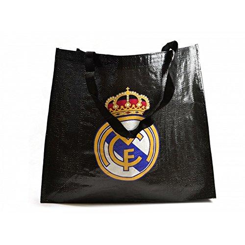 schwarz Wiederverwendbar Tragetasche Einkaufstasche Offiziell Real Madrid Fußballverein eco Lüfter Geschenk