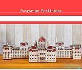 GQQ Tridimensional Puzzle,Manual DIY Modelo De Papel Edificio Creativo Decoración Regalo,Hungarianparliament