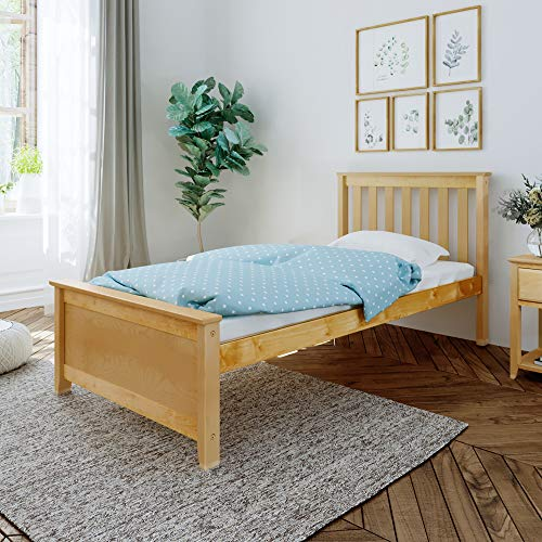 Max & Lily Solid Wood Twin-Size Bed, Natural