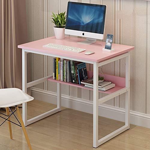 YQ WHJB Simple Oficina Escritura Mesas para Ordenador,Escritorio De Computadora con Estantes...