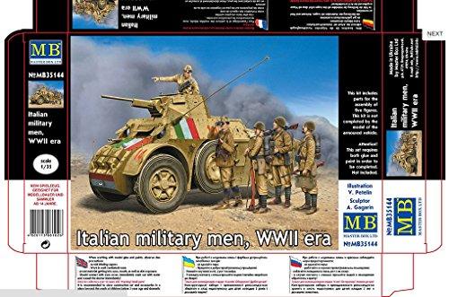 Master Box mb35144 – Modèle Kit Italian Military Men, WWII Era