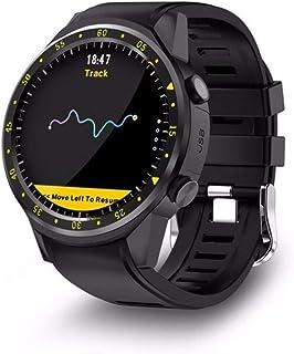 QCHNES Reloj Deportivo Inteligente Al Aire Libre, Diseño con GPS + Módulo De Posicionamiento Doble Brújula, con Cámara GPS Pulsera con Tarjeta SIM Bluetooth para Android iOS