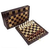 FABAX Schachbrett Tragbare Chess Set Folding Leder Schachbrett Brettspiel beweglichen Kind-Spielzeug-Geschenk Schach (Größe : M)