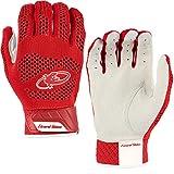 Lizard Skins Pro Knit 2.0 Baseball Batting Gloves - Adult Baseball Batting Gloves (Red, Small)