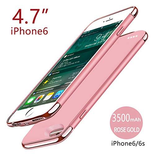 CASEWRS Akku Hülle für iPhone 6 iPhone 6s 4.7 inch 3500mAh Battery, Tragbare Ladebatterie Zusatzakku Externe Handyhülle Batterie Wiederaufladbare Schutzhülle Battery Pack Power Bank Akku