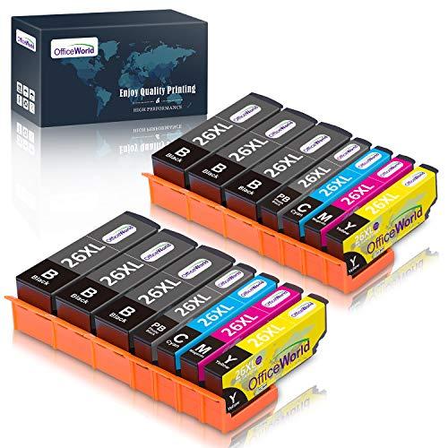 OfficeWorld Sostituzione per Epson 26 26XL Cartucce d'inchiostro Alta Capacità Compatible per Epson Expression Premium XP-600 XP-520 XP-510 XP-710 XP-720 XP-620 XP-800 XP-605 XP-610 XP-820