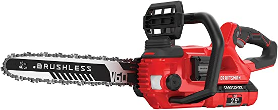 CRAFTSMAN V60 Cordless Chainsaw, 16-Inch (CMCCS660E1),Red