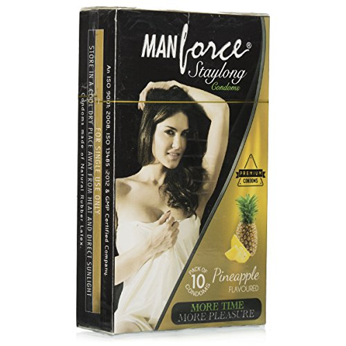 Manforce Staylong Pineapple Flavored Condoms 10 PCS Pack of 5
