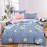 yaonuli Reine Baumwolle hochwertige Baumwolle Schleifen vierteiliges vierteiliges Set. Bettbezug. 1,8 * 2,2 Blatt 2,3 * 2,5 Kissenbezug 48 * 74 Zwei