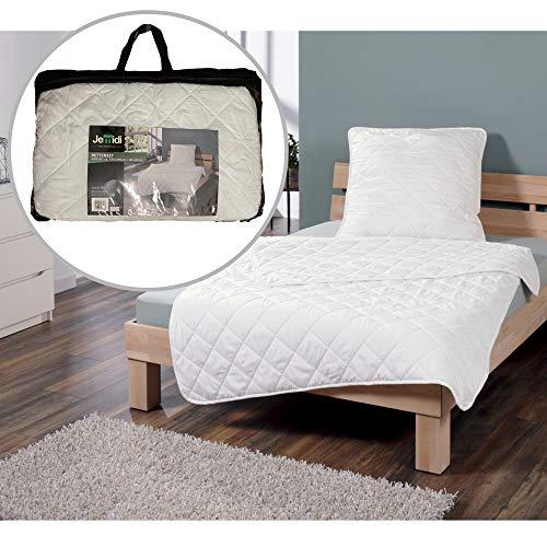 JEMIDI Bettenset Bettdecke 135cm x 200cm & Kopfkissen 80cm x 80cm bis 95°C Allergieneutral Bettset 4 Jahreszeiten Betten Garnitur
